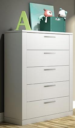 Nest Juvenile Milano 5 Drawer Dresser In White Ideal Baby