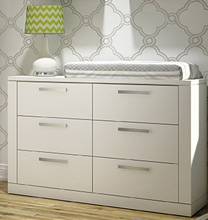 Nest Juvenile Milano Double Dresser in White