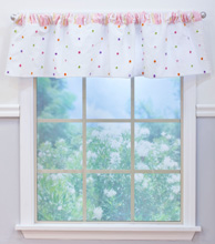 Nurture Imagination Butterfly Garden Valance Pink Cut Dot