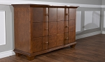 Pali Onda Double Drawer Dresser in Walnut