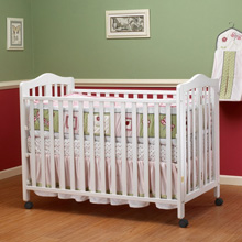 Orbelle Lisa Full Sized Folding Crib White