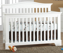 Pali Design Volterra Forever Crib in White