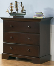 Pali Design Volterra 3 Drawer Dresser in Mocacchino