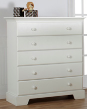 Pali Design Volterra 5 Drawer Chest in White