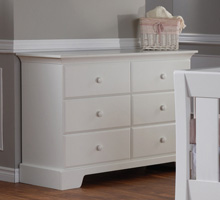 Pali Design Volterra Double Dresser in White