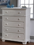 Pali Torino 5 Drawer Dresser in White