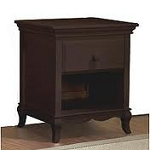 Pali Mantova Nightstand in Chocolate