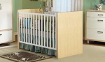 Pali Milano Crib in White/Natural