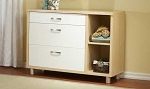 Pali Milano Combo Unit Dresser in White/Natural