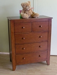 Pali Salerno 5 Drawer Chest in Sienna