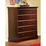 Pali Volterra 5 Drawer Chest in Vintage Cherry