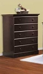 Pali Volterra 5 Drawer Chest in Mocacchino