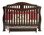 Million Dollar Baby Parker 4-in-1 Convertible Crib in Coffee