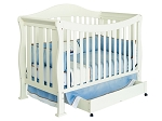 Million Dollar Baby Parker 4-in-1 Convertible Crib in Pearl White
