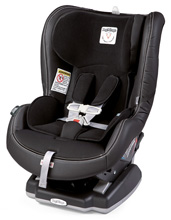 Peg Perego Primo Viaggio Convertible Car Seat in Licorice - Black Eco Leather