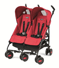 Peg Perego Pliko Mini Twin Stroller Mod Red