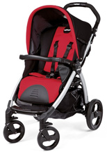 Peg Perego Book Classico Stroller in Flamenco - Cherry Red/Black