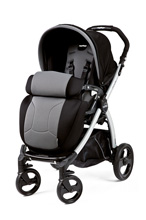 Peg Perego Book Plus Stroller in Stone - Black/Grey
