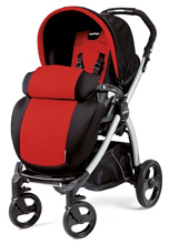 Peg Perego Book Plus Stroller in Flamenco - Cherry Red/Black