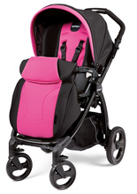 Peg Perego Book Plus Stroller in Fucsia - Hot Pink