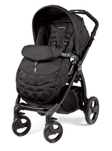Peg Perego Book Plus Stroller in Pois Black - Black/Black Dots