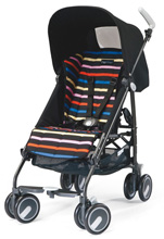Peg Perego Pliko Mini in Neon Black/Neon Multi Stripes