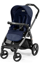 Peg Perego Book Pop Up Stroller, Circles Blue
