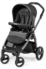Peg Perego Book Pop Up Stroller, Circles Grey