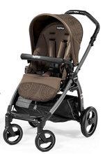 Peg Perego Book Pop Up Stroller, Circles Choco