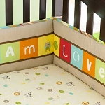 Pem America Too Good by Jenny McCarthy ABC Crib Bumper