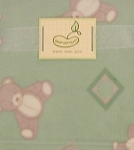 Beansprout Micro Polar Fleece Blanket Teddy Bear Mint