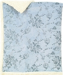 Laura Ashley Carven Printed Mink Sherpa Blanket Blue
