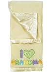 Pem America 2 Ply Blanket Crib Throw Cream I Heart Grandma