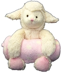 Step by Step Plush Animal With Blanket Pink Lamb