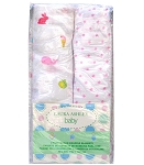 Laura Ashley 2 Pack Muslin Wrap Animals and Pink Dots