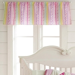 Laura Ashley Owlphabet Window Valance Pink