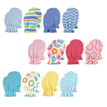 Baby Vision Scratch Mittens 4-Pack