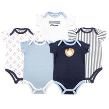 Baby Vision Baseball  Bodysuit 5-Pack Boy