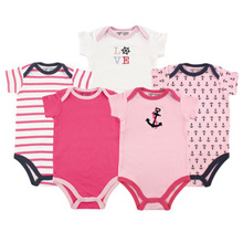 Baby Vision Girl Nautical Bodysuit 5-Pack