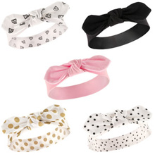 Hudson Baby Girl 5  Pack Headband Gold Dot