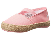 Ralph Lauren Layette Bowman Espadrille in Pink Chambray