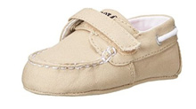 Ralph Lauren Layette Sander EZ Boat Shoe in Khaki Canvas