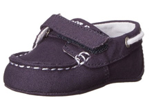 Ralph Lauren Layette Sander EZ Boat Shoe in Navy Canvas