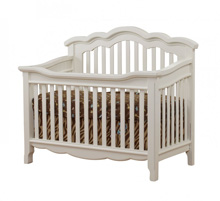Lusso Nursery Ravenna Crib with Toddler Rail, French White