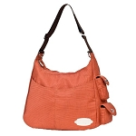 JJ Cole Zoey Diaper Bag, Orange and Chocolate