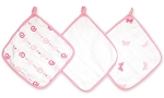 "Aden + Anais Washcloth Set 3pk ""Girls n Swirls"""