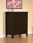 Pali Salerno 5 Drawer Chest in Mocacchino