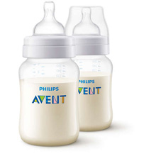 Phillips Avent Anti-Colic Bottle 9oz Clear 2-Pack