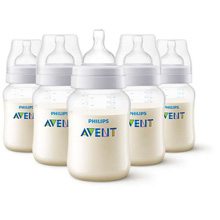 Phillips Avent Anti-Colic Bottle 9oz Clear 5-Pack