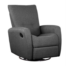 Shermag Cashmere Swivel Glider Recliner, Charcoal